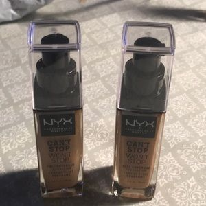 BOTH Cant stop won't stop professional FOUNDATION